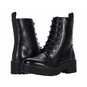 NEW! Dirty Laundry Mazzy Combat Boots - Black